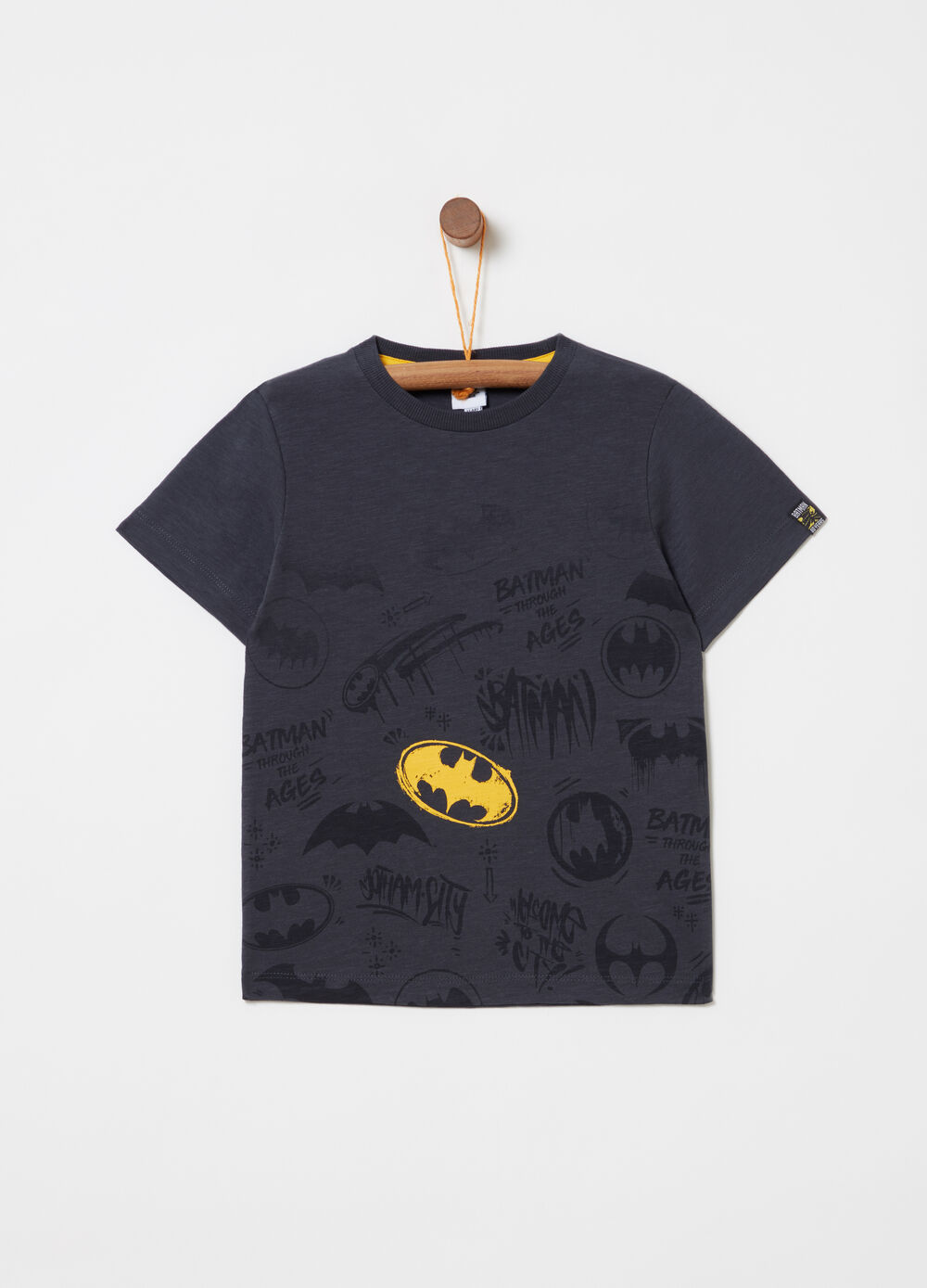 T-shirt with Batman print on the front