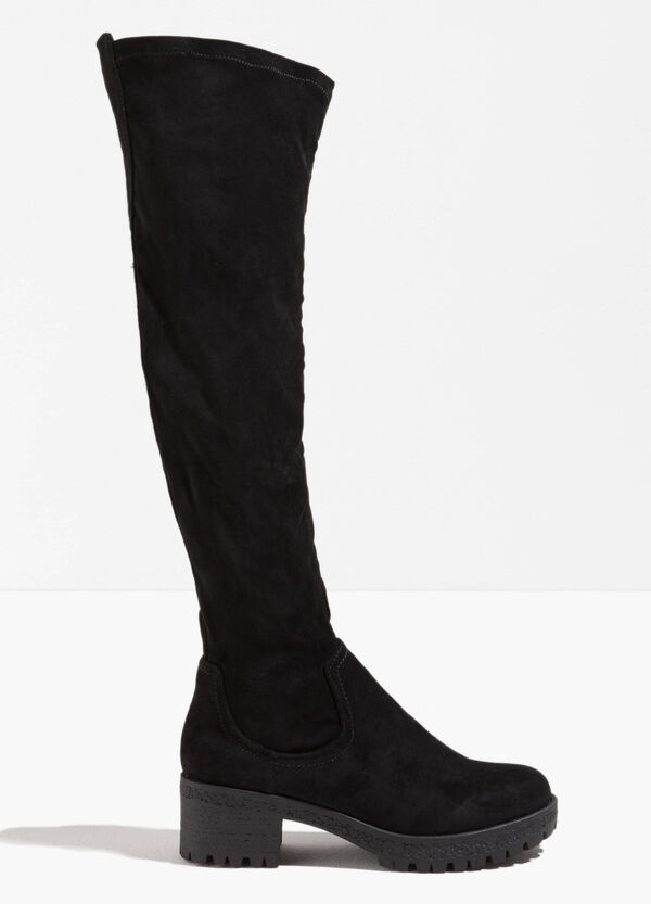 Boots with wide rubbed heel | OVS