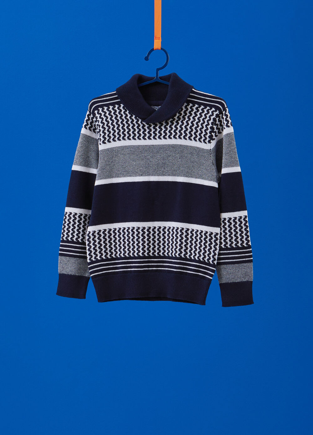 100% cotton knitted pullover with pattern