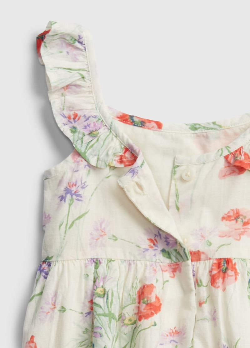 GAP cotton dress with floral pattern image number null