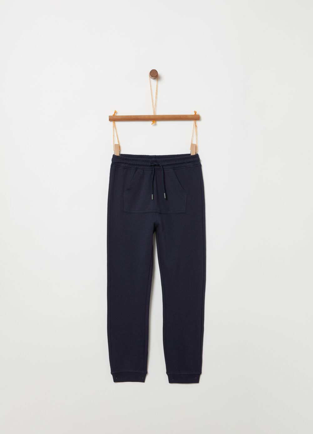 Organic cotton trousers with pouch pocket