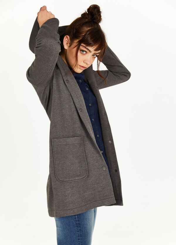 Cotton blend coat with hood