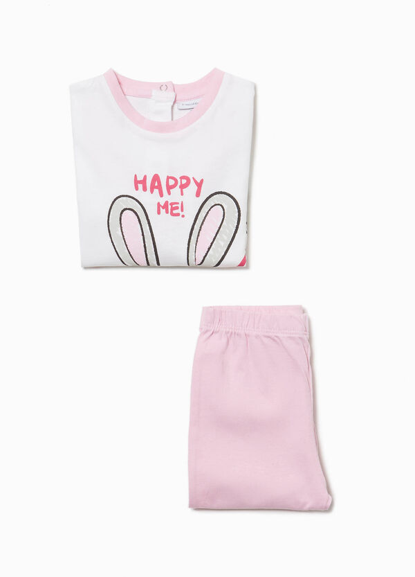 100% cotton pyjamas with rabbit print