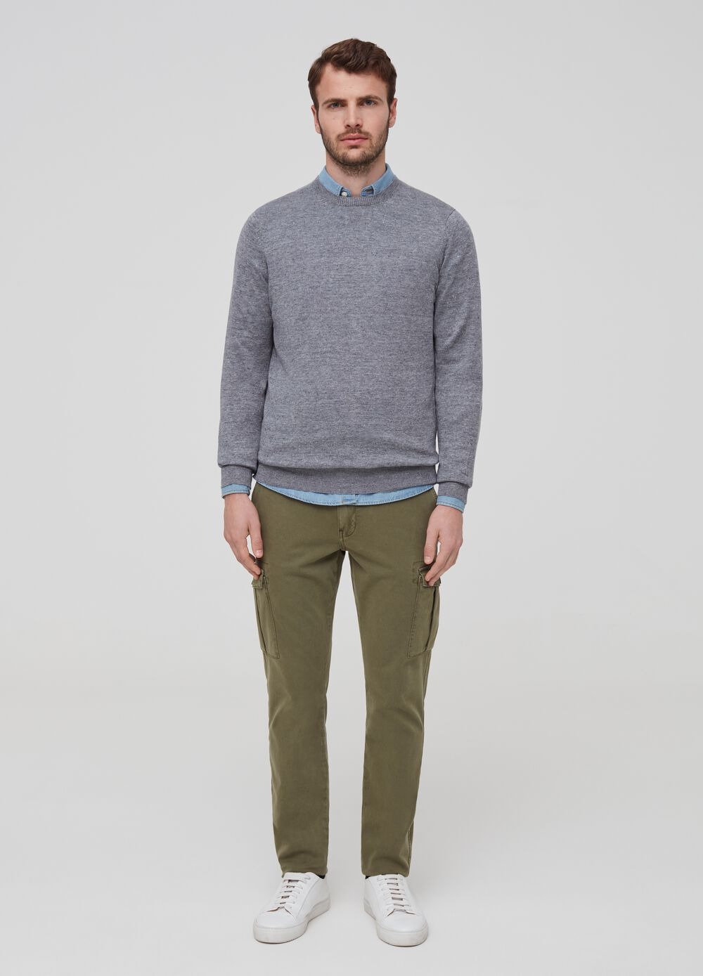 100% linen knitted pullover