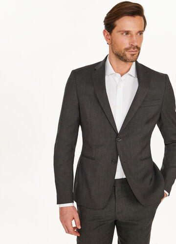 Slim-fit suit in 100% wool with pocket