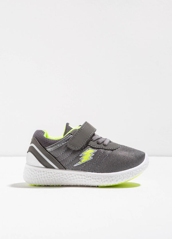 Sneakers with woven and embroidered upper | OVS