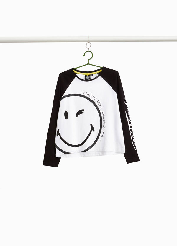 100% cotton T-shirt with Smiley print