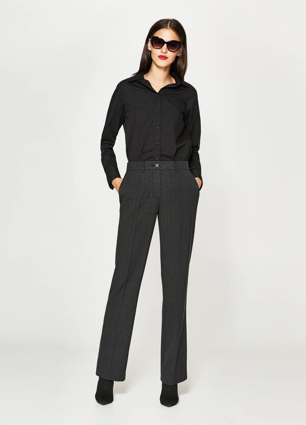Check trousers with crease | OVS
