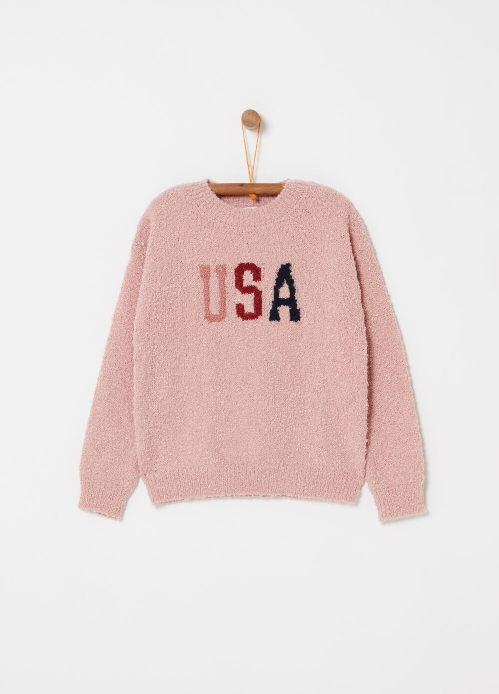 Solid colour top with USA lettering print