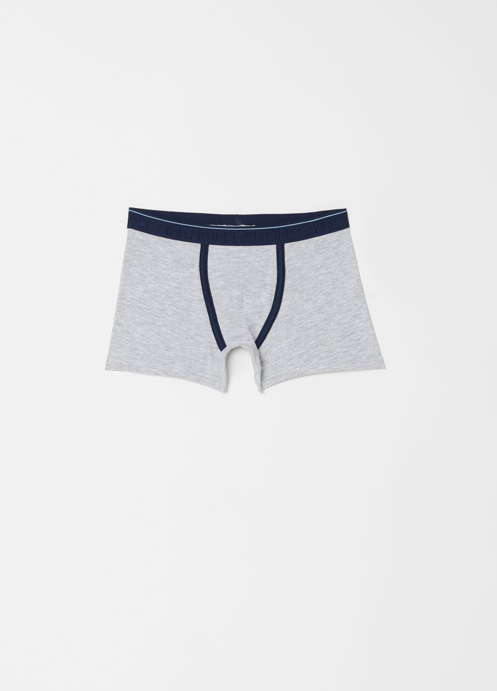 Mélange boxer shorts in stretch biocotton