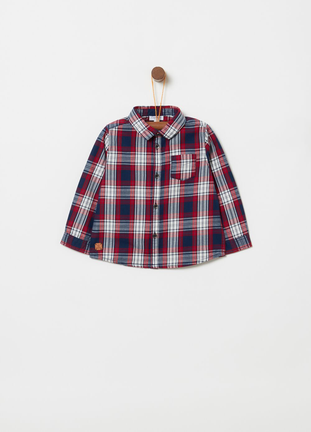 Check patterned shirt in 100% cotton