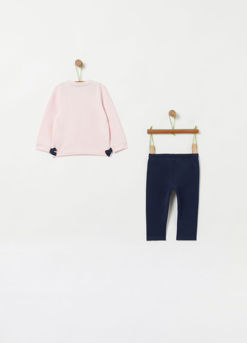 Jogging set with sweatshirt and trousers image number null
