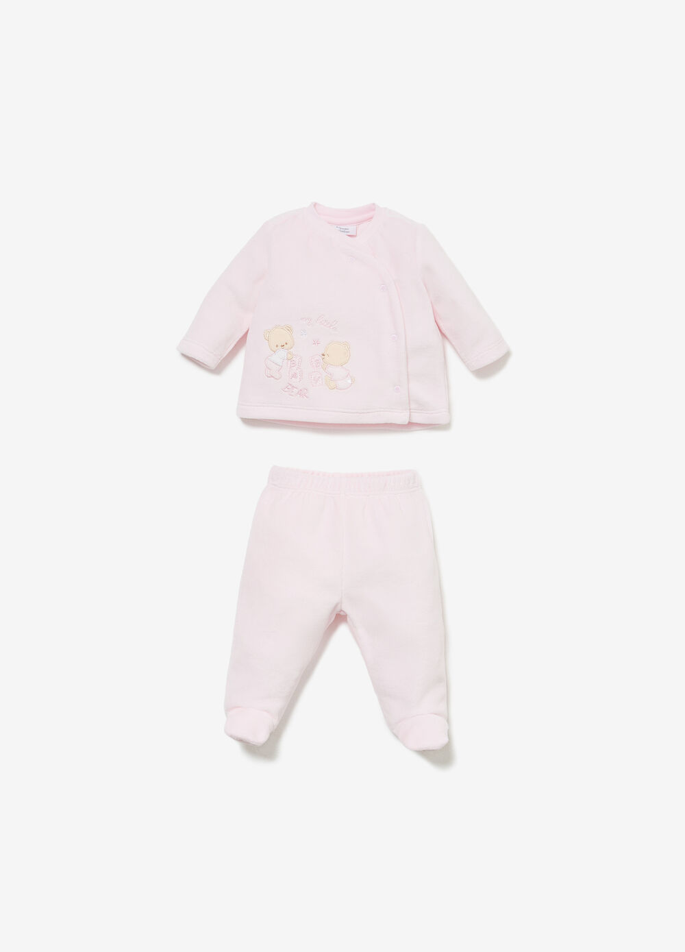 T-shirt and baby leggings set with patch