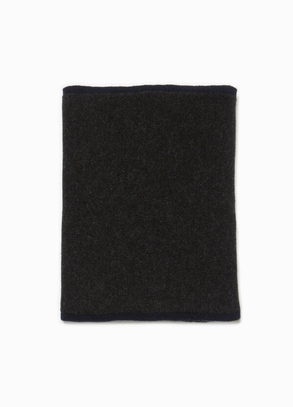 Two-tone wool and cashmere scarf