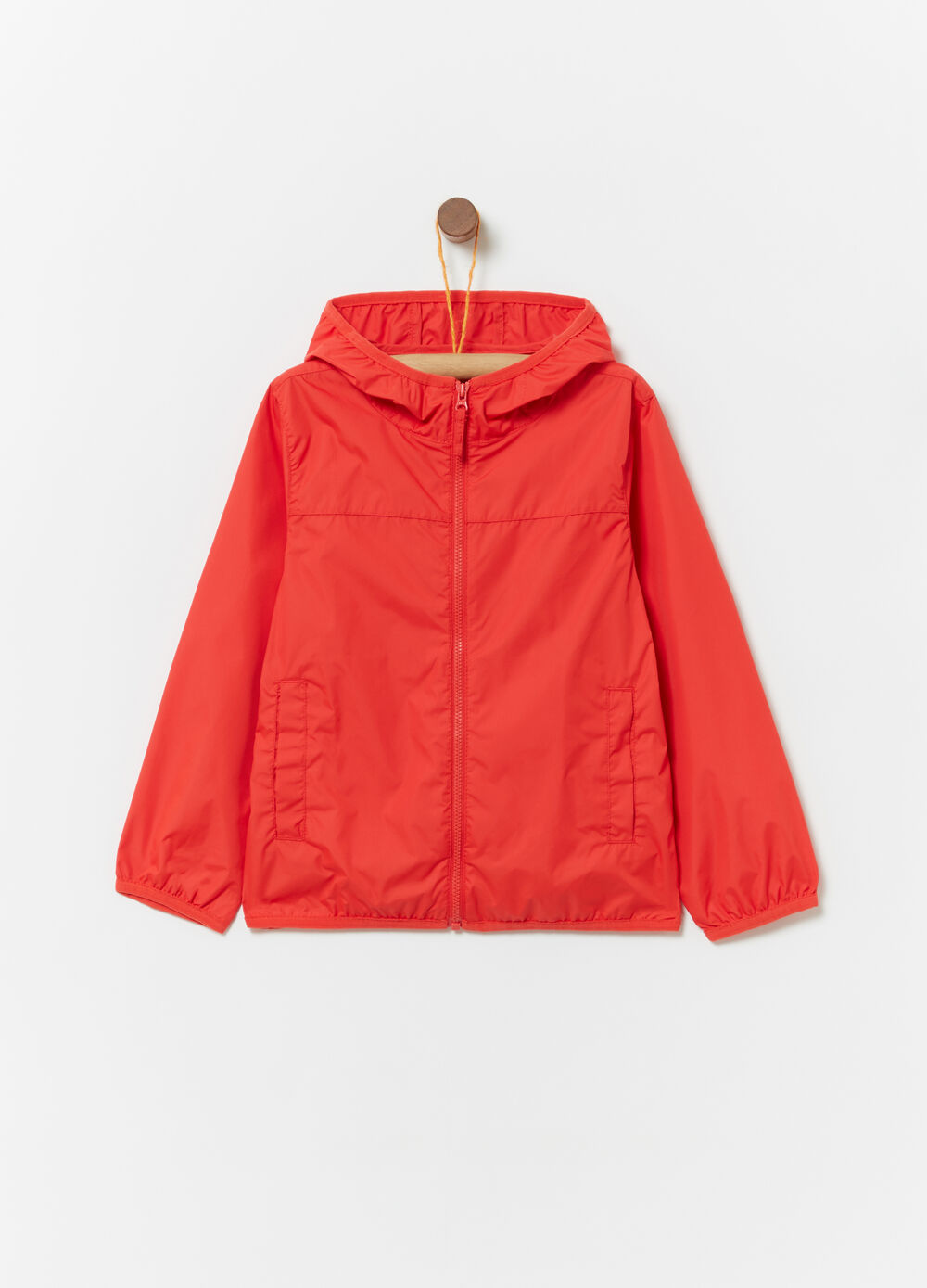 Rain jacket in nylon sfoderato