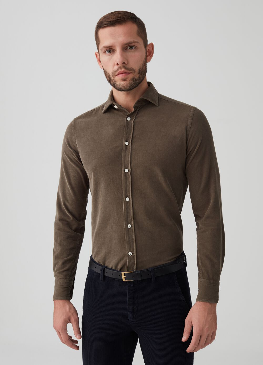 Rumford 100% cotton shirt with placket