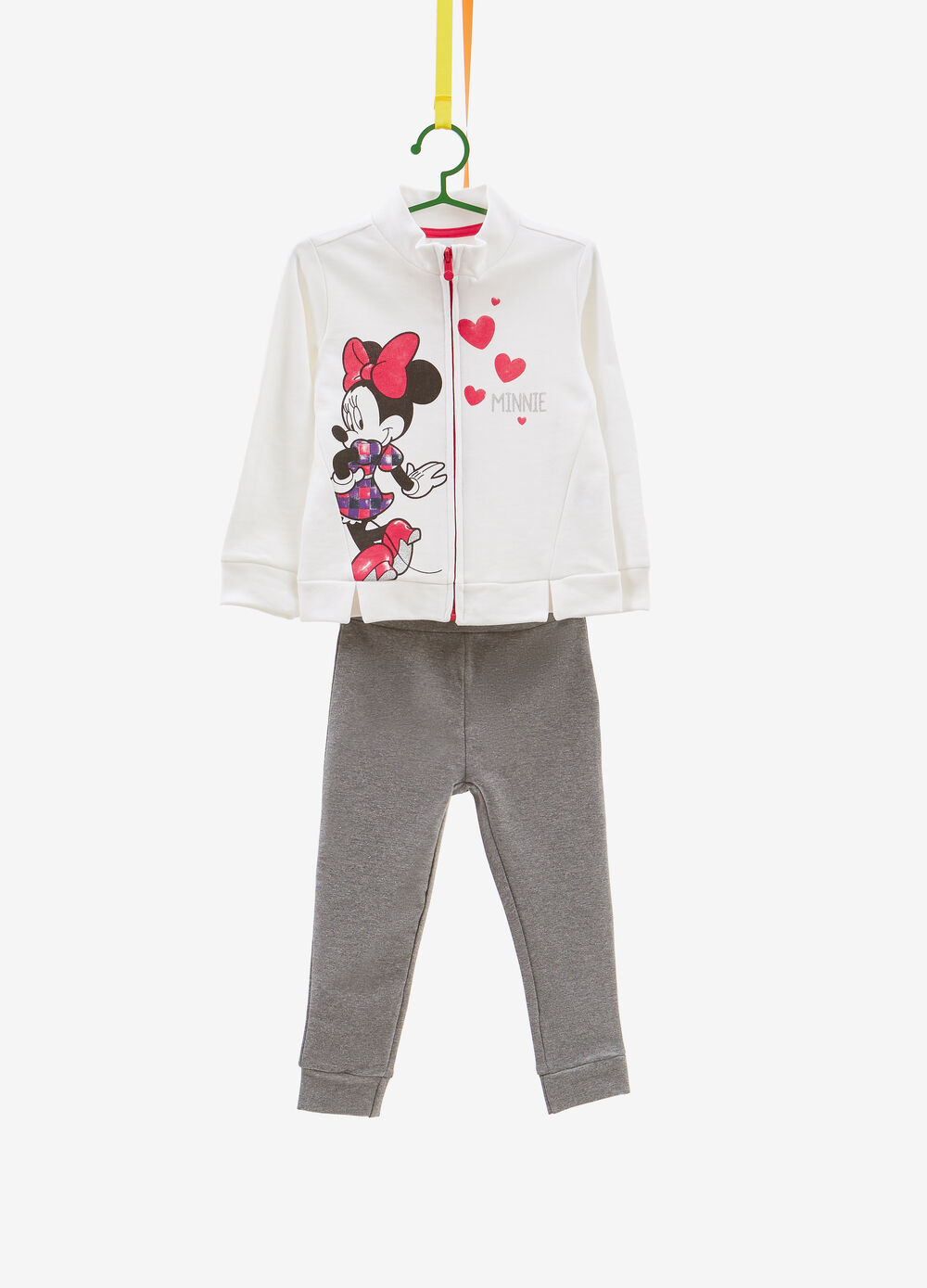 Tracksuit in 100% cotton with Minnie Mouse print