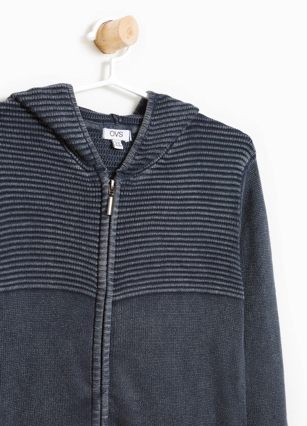 100% cotton hooded cardigan | OVS