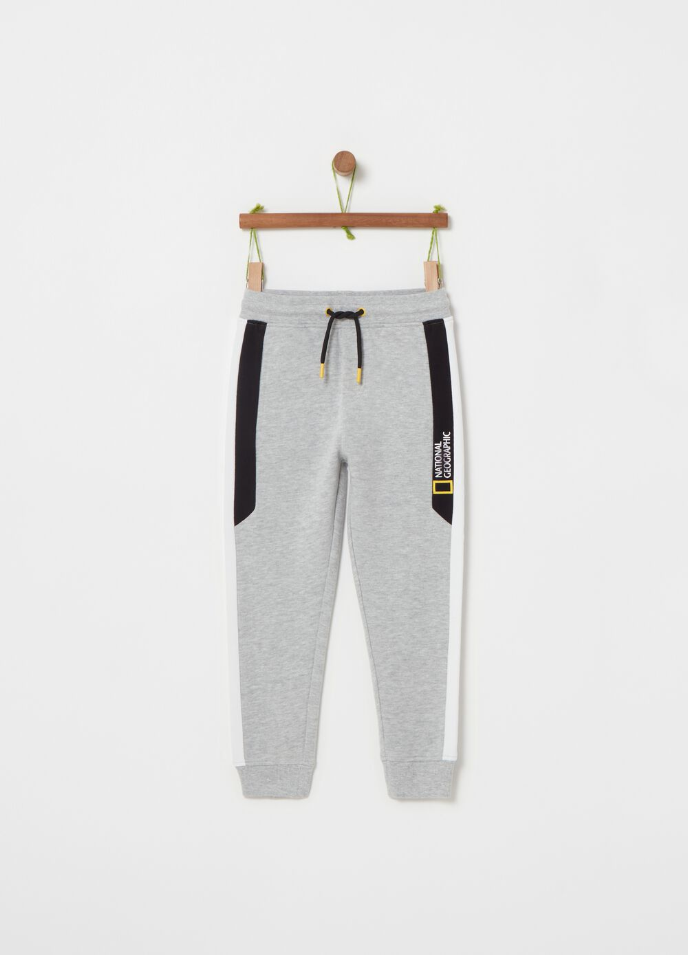Joggers with National Geographic print