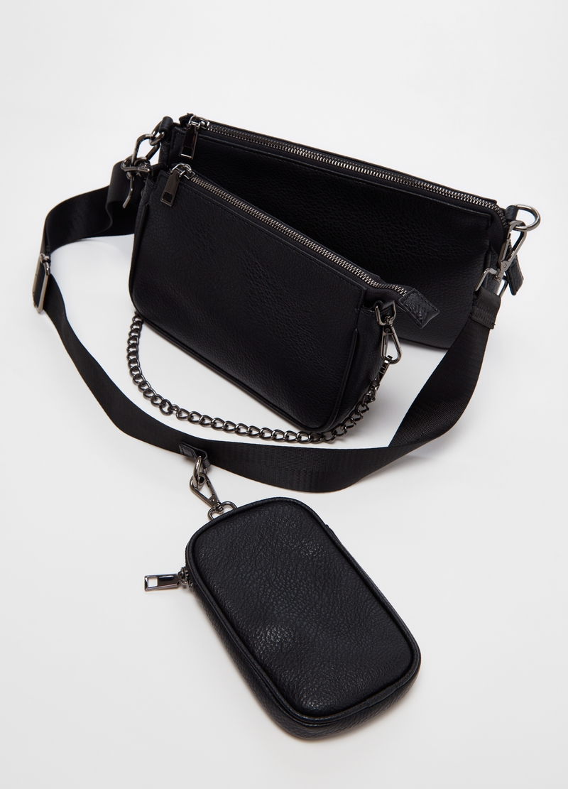 Set of two clutch bags and coin purse with zip image number null