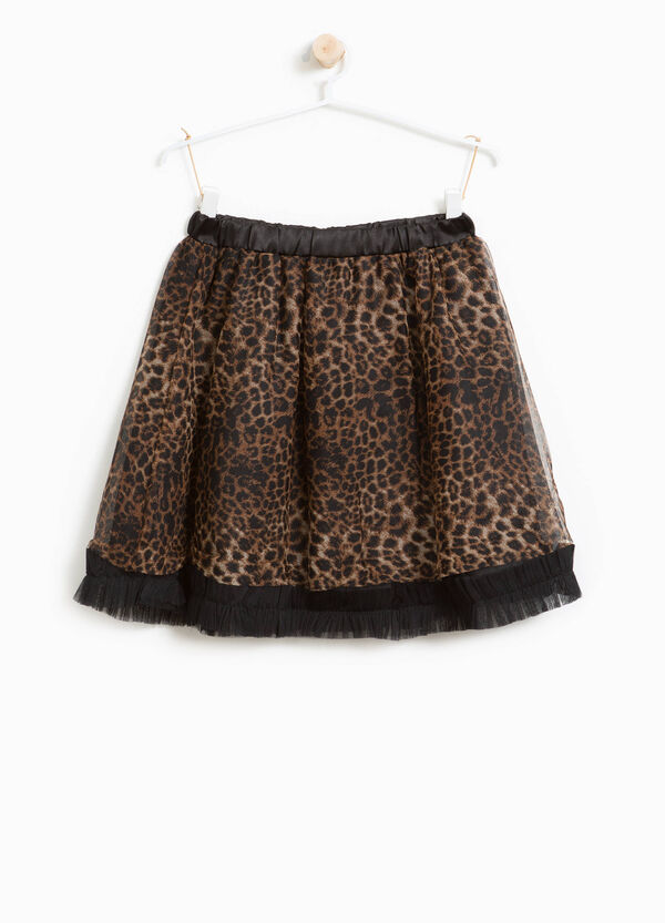 Gonna in tulle animalier | OVS