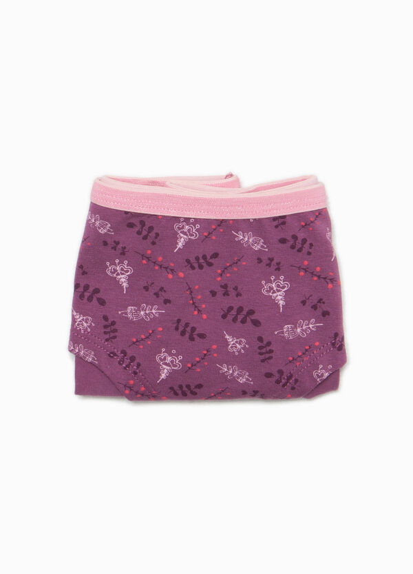 Culotte in cotone stretch floreale | OVS