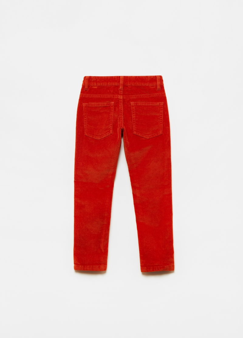 Five-pocket stretch corduroy trousers image number null