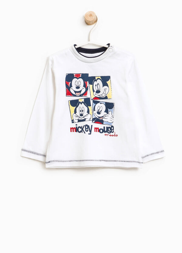 T-shirt in cotone con stampa Mickey Mouse | OVS