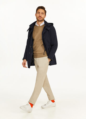 Rumford stretch parka with hood