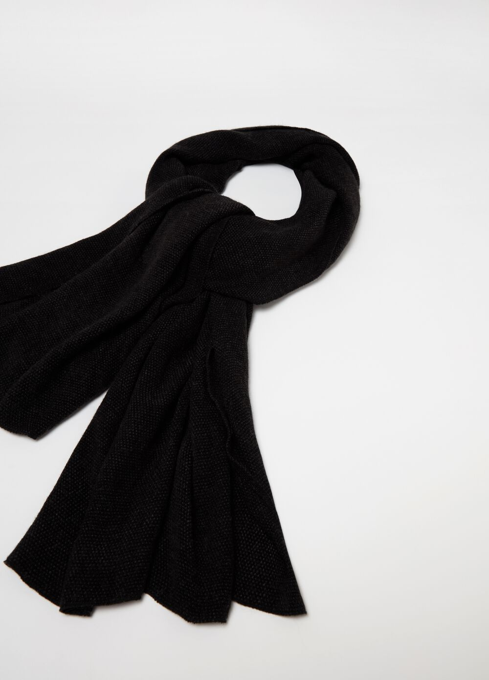 Solid colour soft fabric scarf