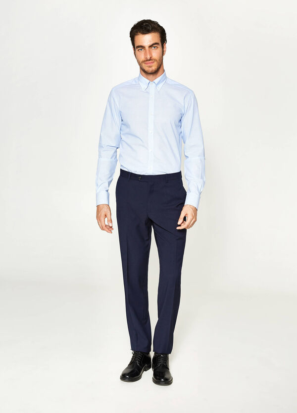 Pantaloni eleganti regular fit in viscosa | OVS