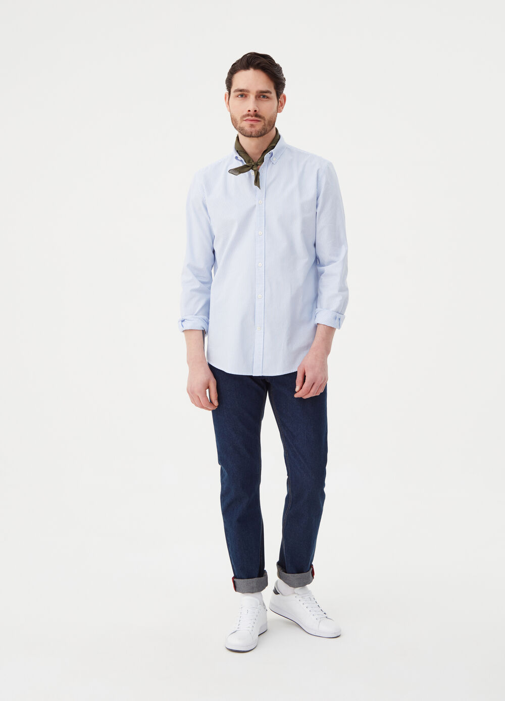 Regular-fit Oxford shirt with stripes