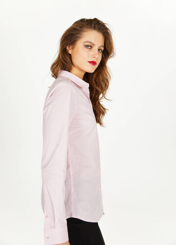 Patterned shirt with micro stripes