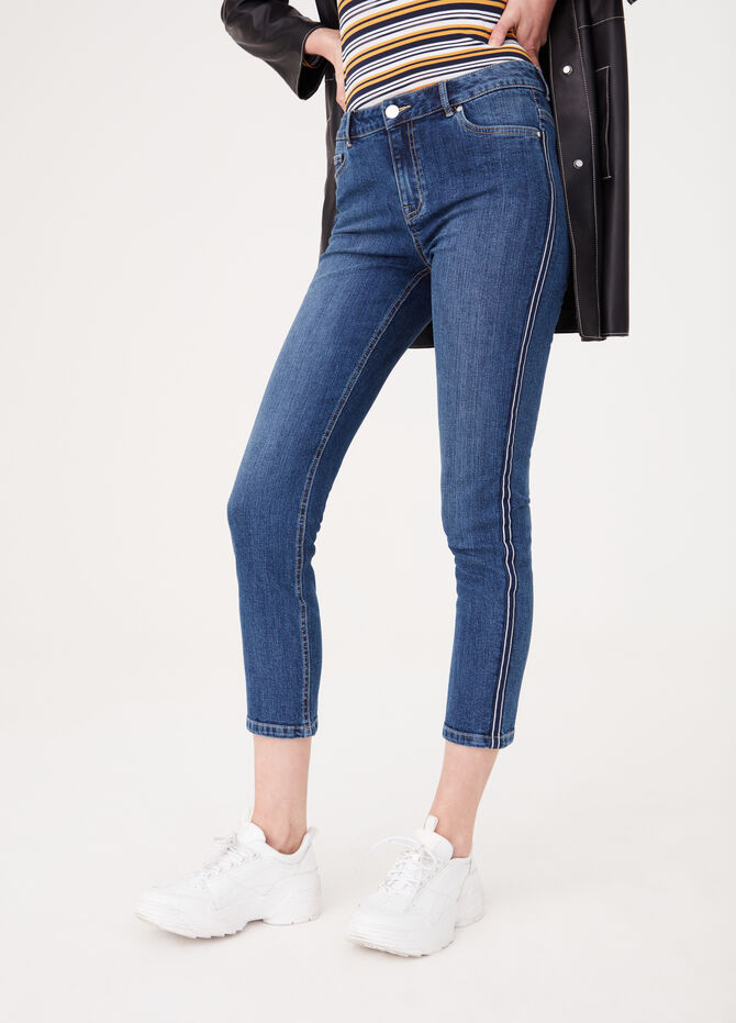 Skinny jeans with side bands