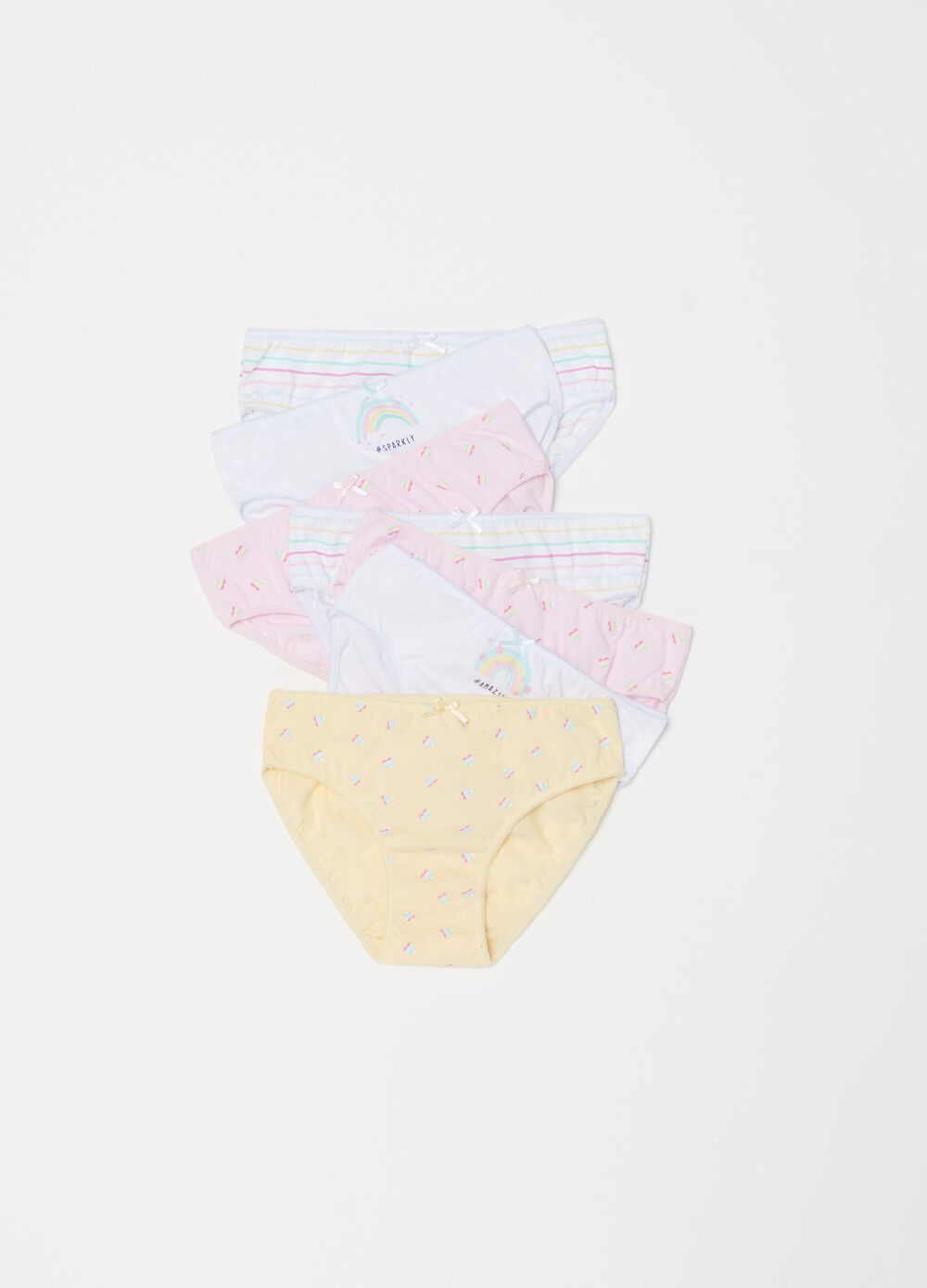 Seven-pack patterned briefs