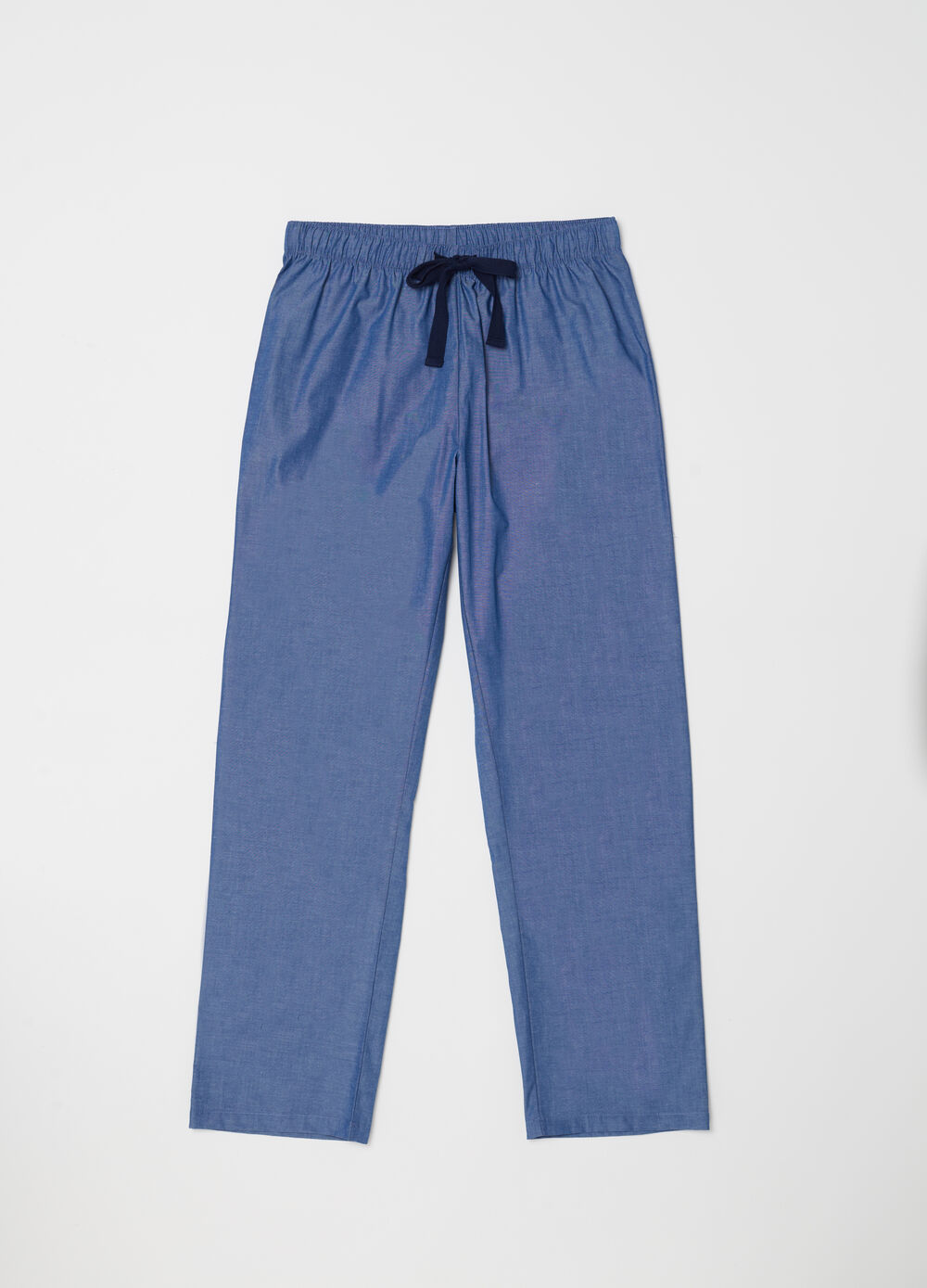 Yarn-dyed canvas trousers with pocket