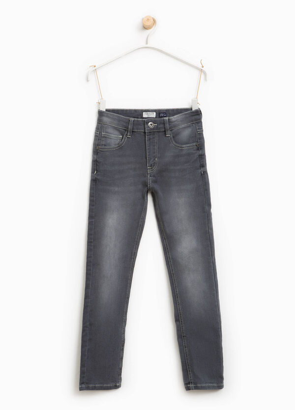 Regular-fit, worn-effect jeans with whiskering | OVS