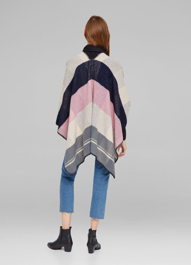 Striped textured fabric cape