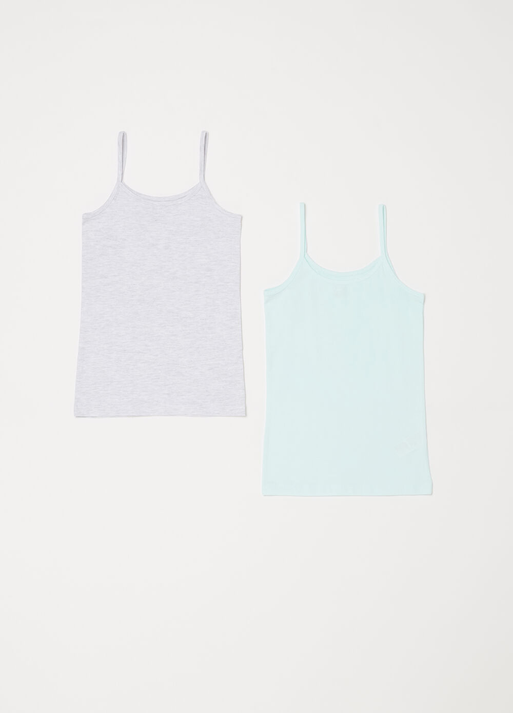 Two-pack vests in stretch organic cotton
