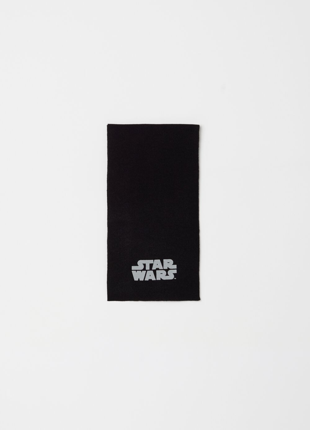 Knitted scarf with Star Wars print