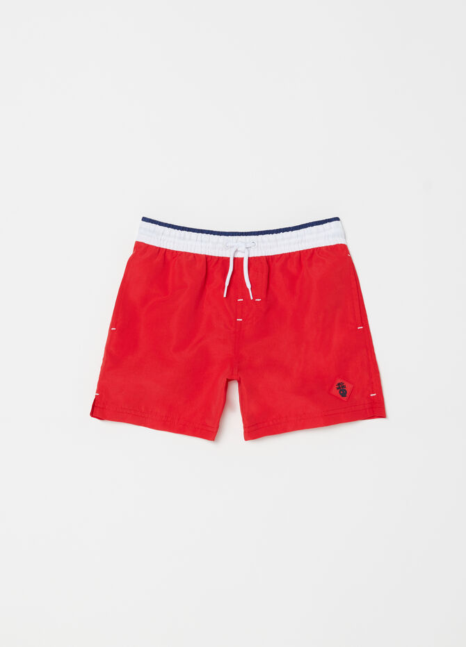 Shorts mare con coulisse e patch