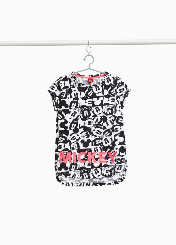 Mickey Mouse patterned T-shirt