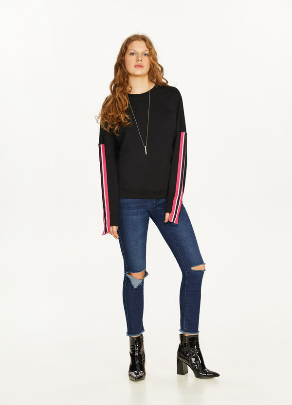 100% cotton sweatshirt with bands