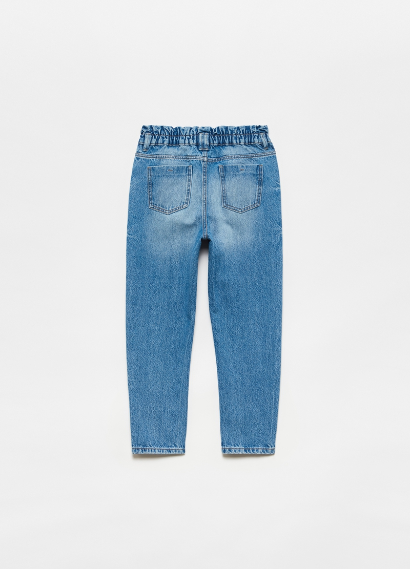Misdyed-effect jeans with high waist image number null