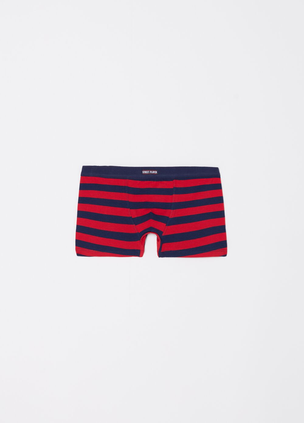 Stretch organic cotton boxers with striped pattern
