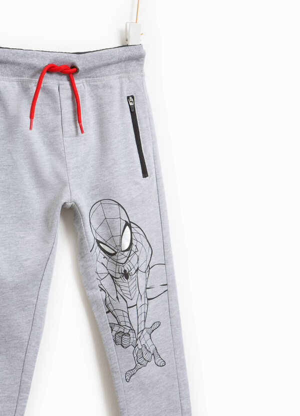 Cotton joggers with Spiderman print | OVS