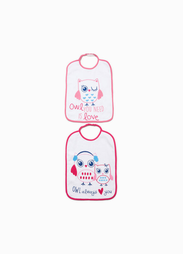Two-pack printed bibs in 100% cotton | OVS