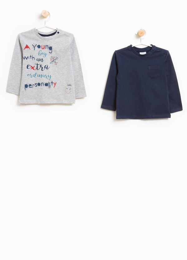 Set due t-shirt taschino e stampa