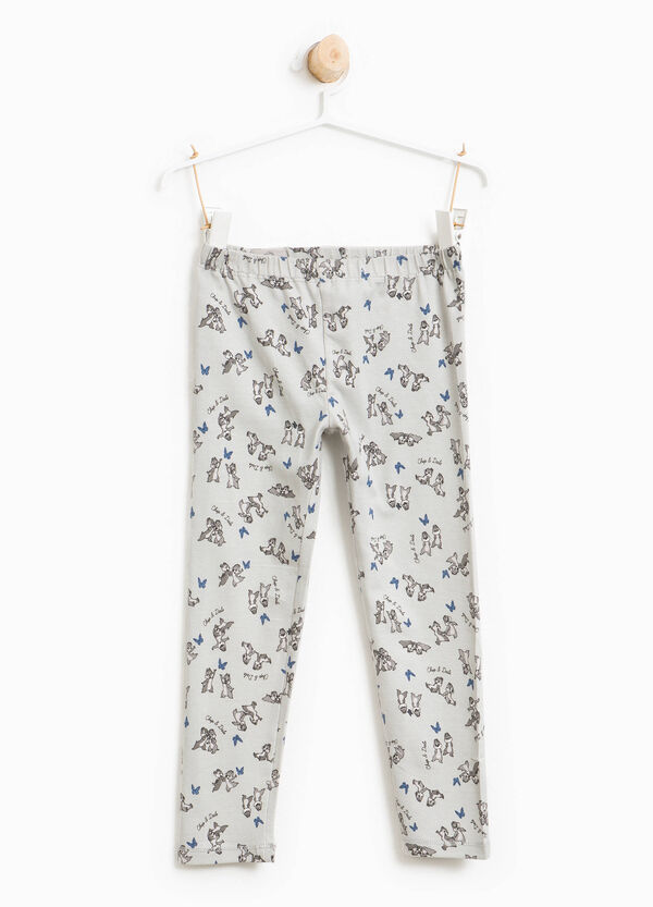 Chip 'n' Dale patterned cotton leggings | OVS