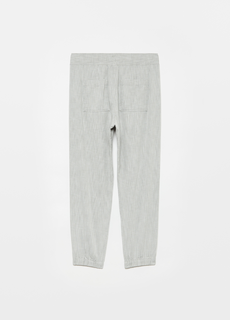 GAP joggers in twill with drawstring image number null